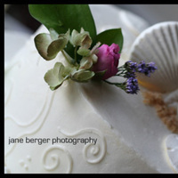 Flowers & Decor, Cakes, white, pink, purple, green, cake, Flowers, Wedding, Ocean, Starfish, Theme, Day, Jane berger photography