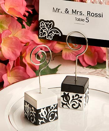 Inspiration, Reception, Flowers & Decor, Favors & Gifts, white, black, Favors, Wedding, Placecard, Board, Damask, Holders, Accent the party