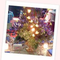 Ceremony, Reception, Flowers & Decor, Ceremony Flowers, Centerpieces, Flowers, Centerpiece, Lighted, Illuminated