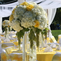 Ceremony, Flowers & Decor, white, yellow, Ceremony Flowers, Centerpieces, Flowers, Centerpiece