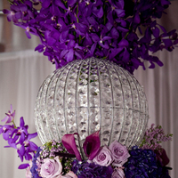 Ceremony, Reception, Flowers & Decor, purple, silver, Ceremony Flowers, Centerpieces, Flowers, Centerpiece, Jadore florist