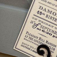 Stationery, blue, Vintage, Invitations, Southern, Custom, Party, Theme, Letterpress, Paper moss
