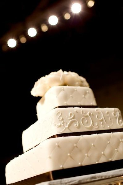 Cakes, white, black, cake, Ribbon Wedding Cakes, Square Wedding Cakes, Square, Fondant, Ribbon, Tier
