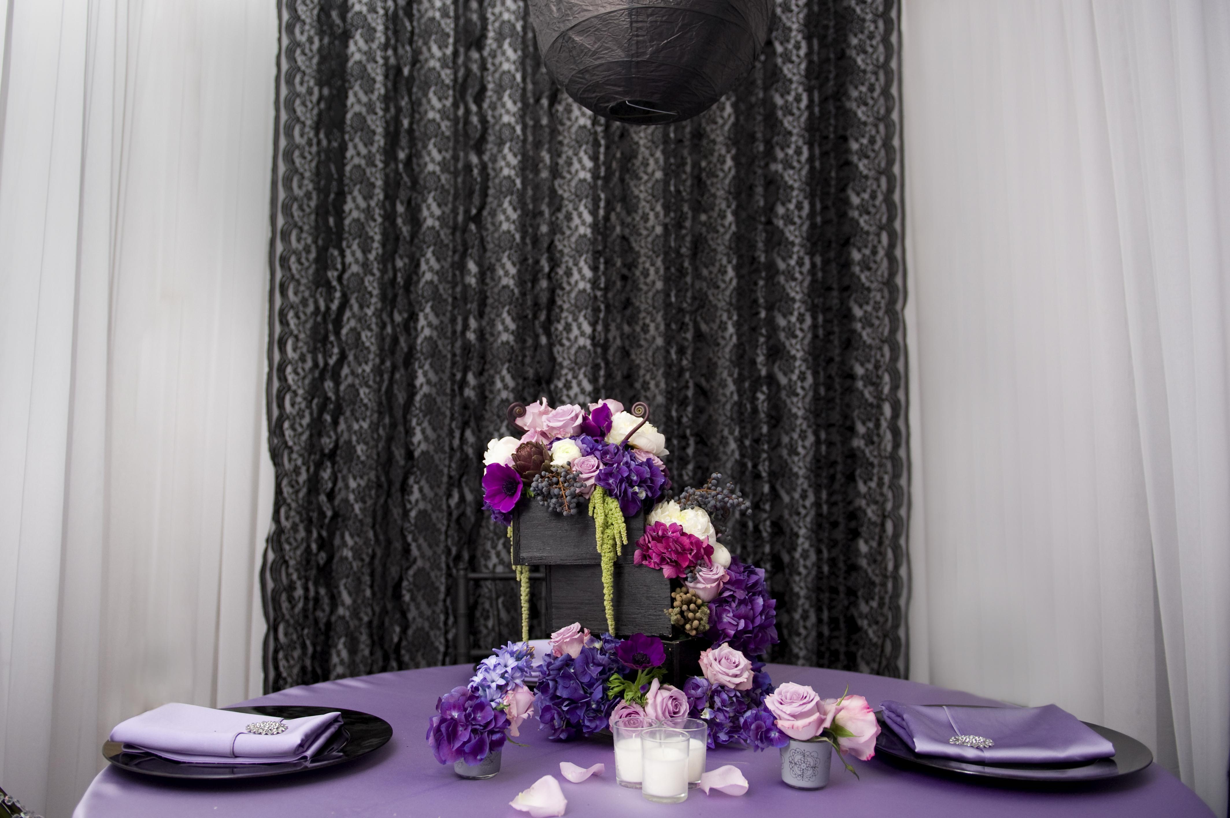 Ceremony, Reception, Flowers & Decor, purple, Ceremony Flowers, Centerpieces, Flowers, Centerpiece, Jadore florist