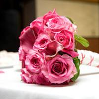 Ceremony, Flowers & Decor, pink, Ceremony Flowers, Bride Bouquets, Flowers, Bouquet, hand tied, Rose of sharon, event florist
