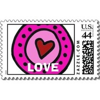 Inspiration, Stationery, pink, red, Announcements, Invitations, Board, You, Thank, Love, Stamps, Postage, Design by ruby