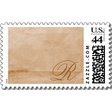 Inspiration, Stationery, brown, Announcements, Invitations, Monogram, Board, You, Thank, Stamps, Postage, Monogrammed, Design by ruby