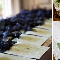 Garden Wedding Invitations, Vineyard Wedding Invitations, Paper moss