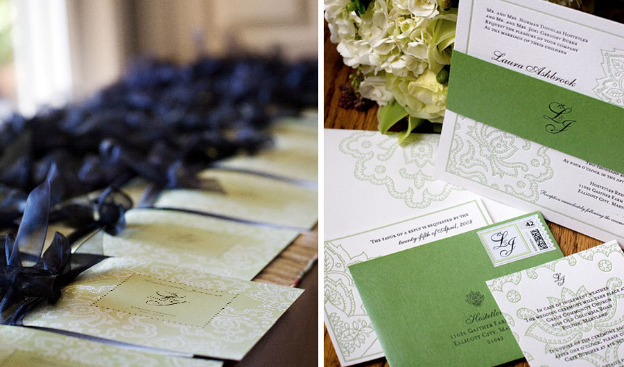 Garden Wedding Invitations, Vineyard Wedding Invitations, Paper moss