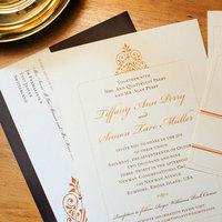Stationery, orange, brown, Fall, Invitations, Custom, Postcard, Labels, Paper moss
