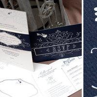 Stationery, blue, Invitations, Custom, Texture, Bird, Popular, Paper moss, Swirly