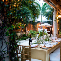 Reception, Flowers & Decor, Destinations, white, green, gold, Garden, Wedding, Tropical, And, Destination, Palms, Fleur de lys villa, Caicos, Turks
