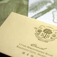 green, Invitations, yellow, Beach, Custom, Destination, Letterpress, Pocket, Paper moss, Bahama, Destinations, Stationery