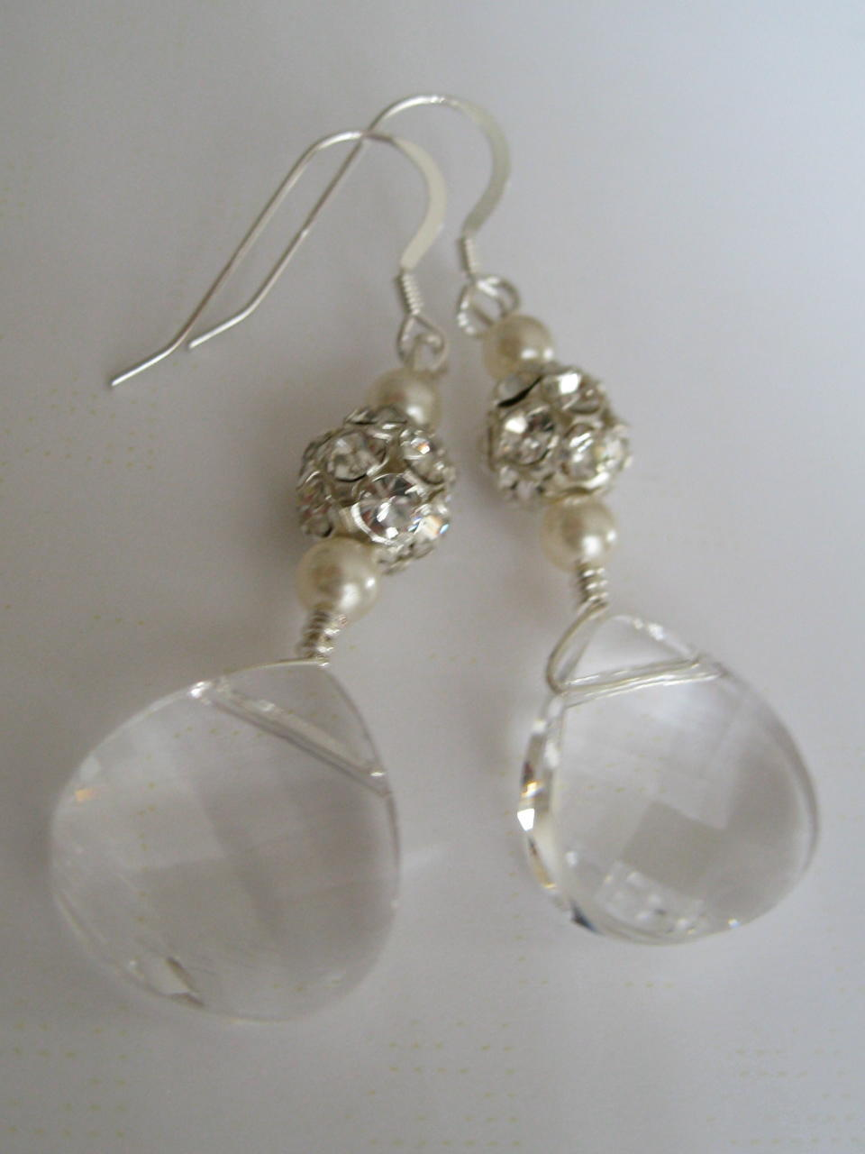 Jewelry, silver, Earrings, Bridal, Maisie