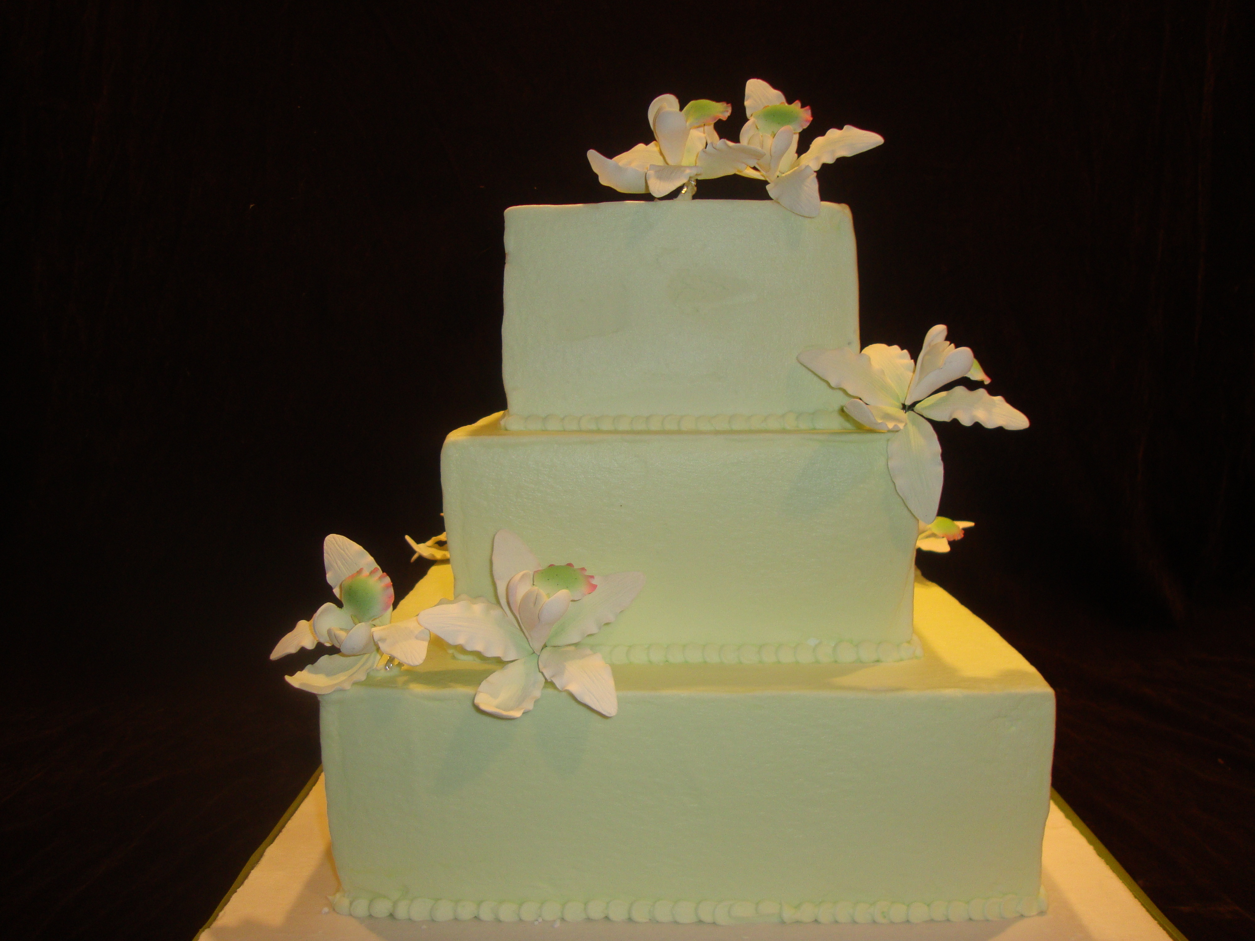 Cakes, white, green, cake, Modern, Modern Wedding Cakes, Wbs custom cakes