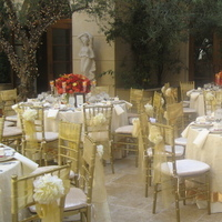 Reception, Flowers & Decor, gold, Tables & Seating, Chiavari, Chairs, Swirl, Overlay, Organza, Imperial party rentals, Embroided