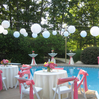 Reception, Flowers & Decor, white, pink, Unlimited party event rental