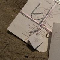 Stationery, pink, silver, Eco-Friendly, Invitations, Wedding, Custom, Designed