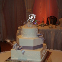Beauty, Cakes, white, silver, cake, Feathers, Feather