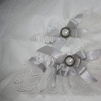 Beauty, white, silver, Feathers, Garter, Feather