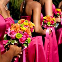 Flowers & Decor, Bridesmaids, Bridesmaids Dresses, Wedding Dresses, Fashion, white, pink, dress, Bridesmaid Bouquets, Flowers, The real noel photography, Flower Wedding Dresses