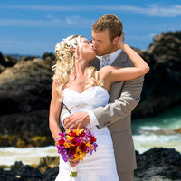 Beauty, Wedding Dresses, Destinations, Fashion, dress, Makeup, Hawaii, Bride, Groom, Maui, A paradise dream wedding