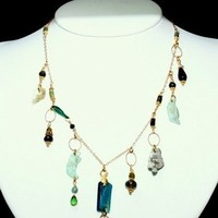 Jewelry, Bridesmaids, Bridesmaids Dresses, Fashion, blue, green, gold, Necklaces, Bridal, Necklace