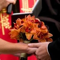 Flowers & Decor, orange, red, Bride Bouquets, Flowers, Bouquet, Orchids, bridal bouquet, The blue orchid, Black magic