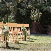 Ceremony, Flowers & Decor, white, yellow, green, brown, Ceremony Flowers, Aisle Decor, Flowers, Chocolate, Chair, Aisle, Arrangement, Wheat, Eucalyptus, The blue orchid, Pods, Urn, China mums, Chair markers, Chair flowers