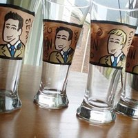 Favors & Gifts, brown, gold, Favors, Groomsmen, Gifts, Groom, Glassware, Beer, Fizzyartist