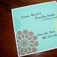 Flowers & Decor, Stationery, white, blue, green, brown, invitation, Modern, Modern Wedding Invitations, Invitations, Flower, Wedding, Daisy, The, Envelope, Save, Date, Card, Fanfare handmade invitations social stationery