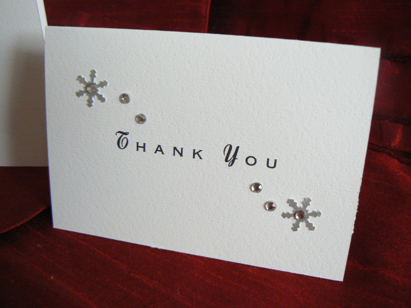 Stationery, white, silver, invitation, Winter, Invitations, Thank You Notes, Wedding, Card, You, Thank, Snowflakes, Crystals, Rhinestones, Embellishment, Fanfare handmade invitations social stationery
