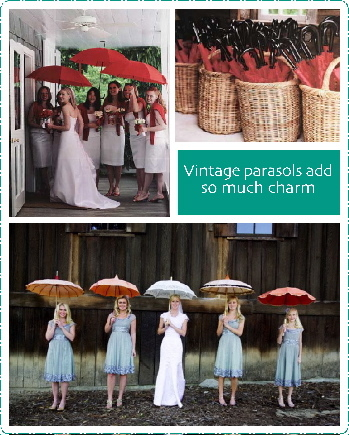 Ceremony, Flowers & Decor, Bridesmaids, Bridesmaids Dresses, Fashion, Bride, Inspiration board, The vintage laundry, Vintage parasols