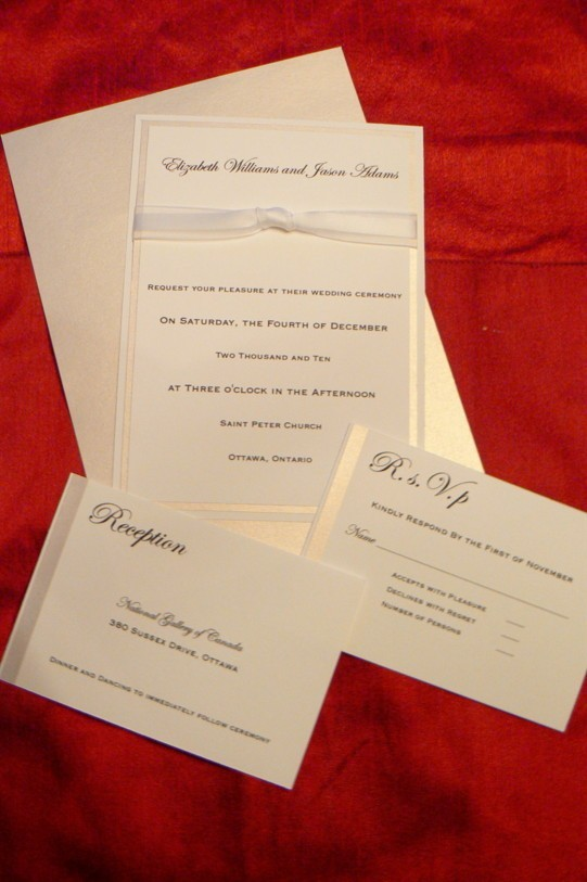 Stationery, white, silver, invitation, Winter, Classic, Classic Wedding Invitations, Invitations, Wedding, Ribbon, Set, Fanfare handmade invitations social stationery