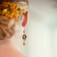 Beauty, Jewelry, Wedding Dresses, Vintage Wedding Dresses, Fashion, white, orange, gold, dress, Vintage, Hair, Details, Nick and laura photography