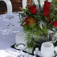 DIY, Flowers & Decor, red, Centerpieces, Flowers, Centerpiece, Wedding, Backyard, Intertwined weddings events