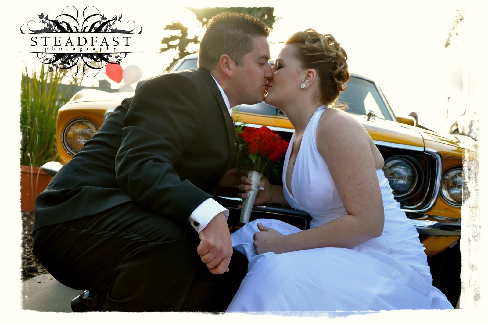 Wedding Dresses, Vintage Wedding Dresses, Fashion, red, dress, Vintage, Roses, Wedding, Car, Intertwined weddings events