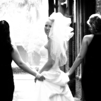 Wedding Dresses, Fashion, white, black, dress, Bride, Portrait, And, Jennifer bagwell photography