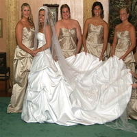 Flowers & Decor, Bridesmaids, Bridesmaids Dresses, Wedding Dresses, Fashion, pink, dress, Bridesmaid Bouquets, Flowers, Flower Wedding Dresses
