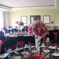 Reception, Flowers & Decor, white, pink, black, Centerpieces, Flowers, Centerpiece, Ninfas flowers gifts