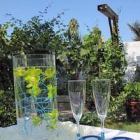 Reception, Flowers & Decor, blue, green, Centerpieces, Flowers, Toast, Pixies petals event decor