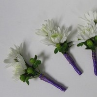 Flowers & Decor, white, purple, green, Boutonnieres, Flowers, Ninfas flowers gifts