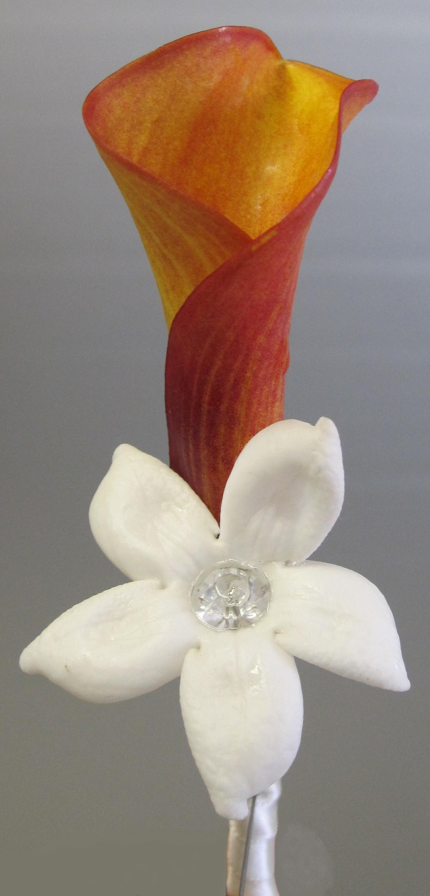 Flowers & Decor, white, orange, Boutonnieres, Flowers, Groom, Boutonniere, Ninfas flowers gifts