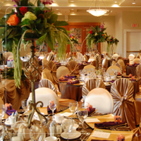 Reception, Flowers & Decor, orange, red, purple, green, gold, Centerpieces, Flowers, Flower, Centerpiece, Table, Tall, Charger, Edmonton, Nuance occasions, Union bank inn