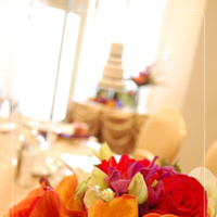 Reception, Flowers & Decor, Cakes, orange, red, purple, green, cake, Bride Bouquets, Bride, Flowers, Bouquet, Edmonton, Nuance occasions, Union bank inn
