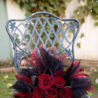 Beauty, Flowers & Decor, red, black, Feathers, Flowers, Kristeen labrot events