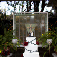 Cakes, white, red, black, cake, Square Wedding Cakes, Square, Kristeen labrot events
