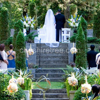Ceremony, Flowers & Decor, Destinations, yellow, pink, purple, North America, Ceremony Flowers, Aisle Decor, Flowers, Center, Aisle, New york, Arts, Caramoor, Pommander, Cheshire tree floral designs, Katonah