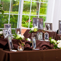 Reception, Flowers & Decor, green, brown, Family table