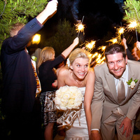 Reception, Flowers & Decor, green, brown, Sparklers